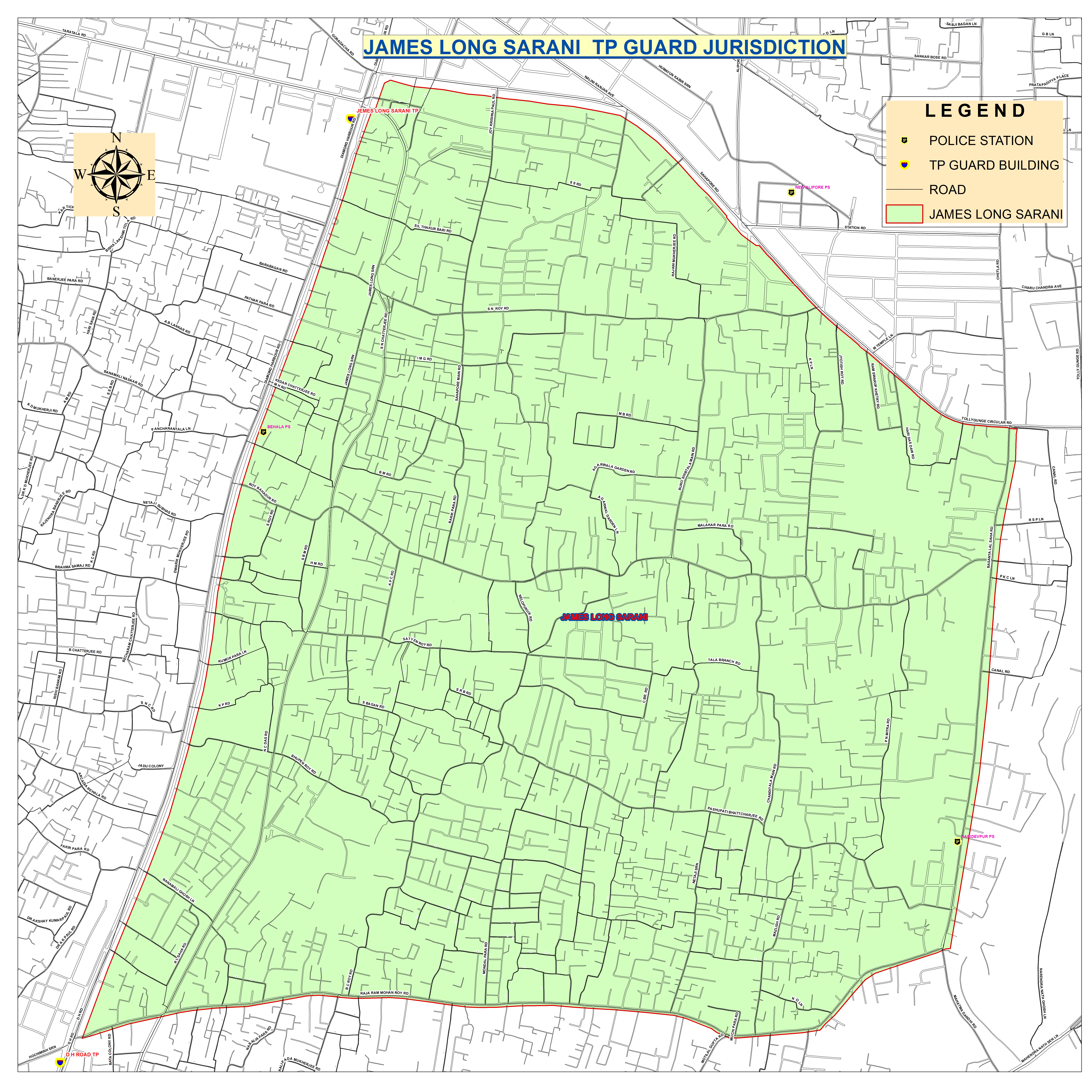 Kolkata Traffic Police on service maps, online interactive maps, print maps, facebook maps, advertising maps,